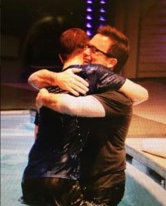 baptism hug